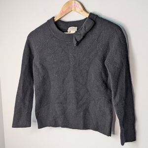 Kate Spade black wool bow sweater size small
